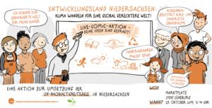 """""""Entwicklungsland Niedersachsen - Klima wandeln für eine global gerechtere Welt!"""" @ Marktplatz Lüneburg"""