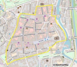 Fahrradstraßenring.  ADFC - Fahrradkorso @ Marktplatz vor dem Rathaus/Ecke Ochsenmarkt
