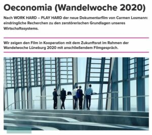 Film OECONOMIA anschließend DAS ROTE SOFA @ SCALA Lüneburg